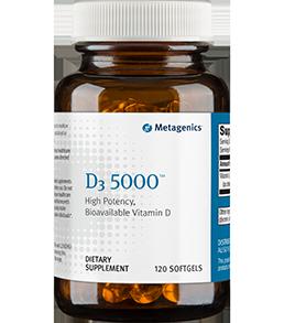 Metagenics D3 5000 120 SoftGels