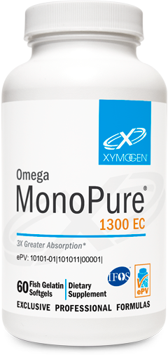 Omega MonoPure® 1300 EC   60 Fish Gelatin Softgels   Xymogen - HealthToday